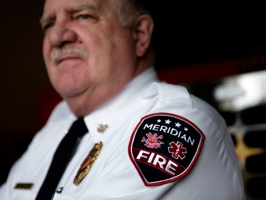 Meridian Township Fire Chief Fred Cowper, photographed