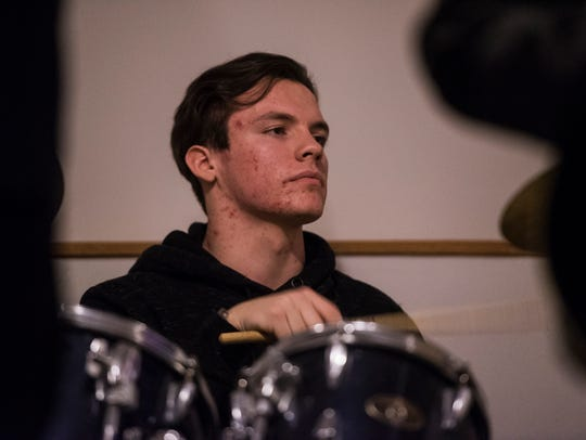 Call of the Awakened drummer Jayden Harrison plays