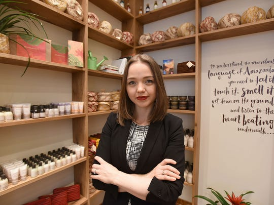 Adriana Duarte, manager of the Natura Brasil store Garden State Plaza   Natura Brasil, a cosmetics company that promises to save the rainforest as well as sell beauty products has picked Garden State Plaza for its second U.S. store.