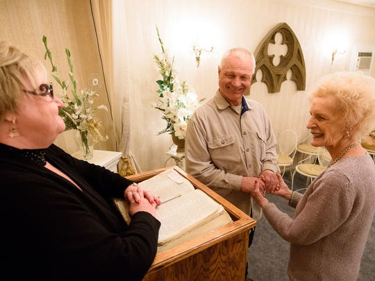 Margaret Flint marries John Beers and Winona Beers. The couple has been together for 17 years but got married on Chapel of the Bells last day open on Feb. 28, 2018. John Beers said he would finally be able to tell his 90-year-old father that he got married.
