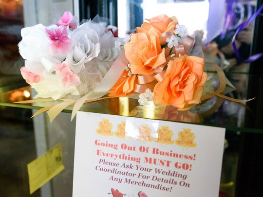 Chapel of the Bells on W. Fourth Street used to sell fresh flowers but as business has died, they switched to silk flowers. The chapel closed Feb. 28, 2018 after almost 56 years of providing quick drive-through and drive-up weddings for Reno locals and tourists.