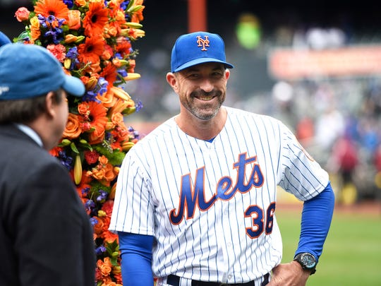 New York Mets manager Mickey Callaway (36) during opening