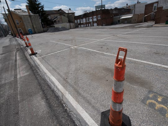 The Central Parking lot off South Main Street, Chambersburg,