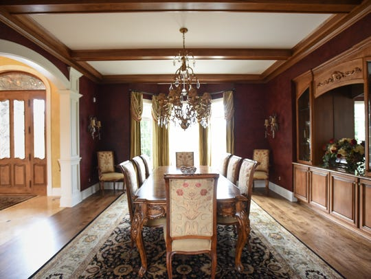 The dining room in this 8,000 square foot home in Whitehills