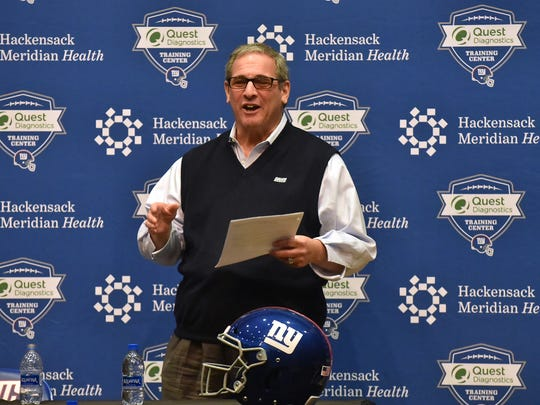 Giants GM Dave Gettleman holds press conference to