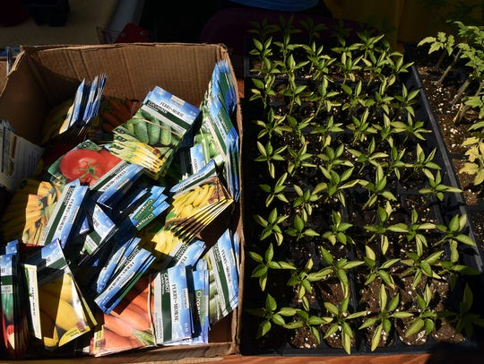 Garden seeds and plans were available at the 19th annual