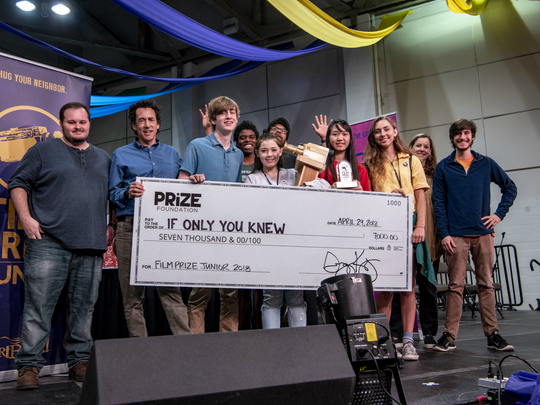 """Caddo Magnet students Maria Vu and Olivia Noonan walked away with the grand prize of  Louisiana Fim Prize Junior """"If Only You Knew."""""""