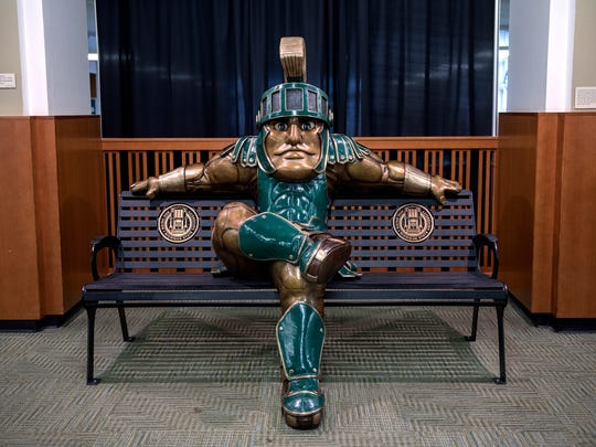 The Sparty statue inside the MSU Union photographed