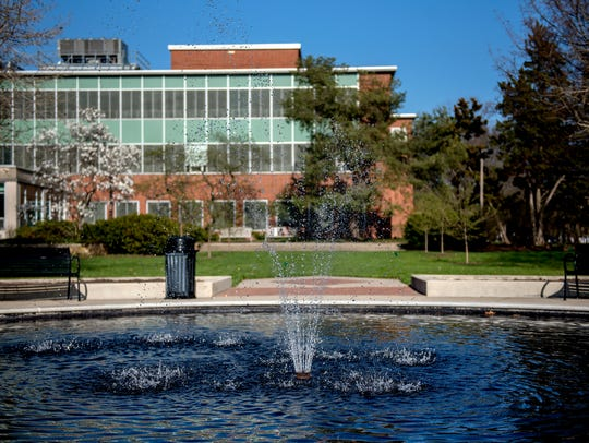 The water fountain pictured behind the Student Affairs
