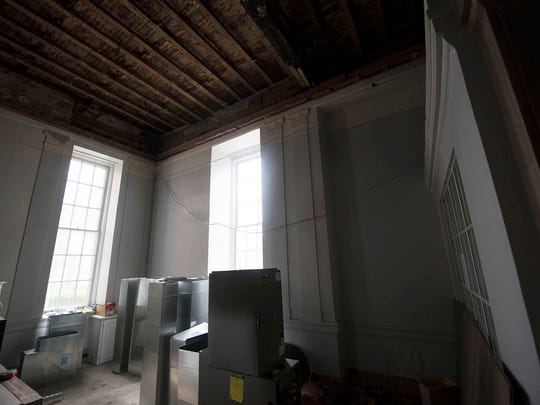 Franklin County Visitors Bureau is renovating a building they will move to on Memorial Square.