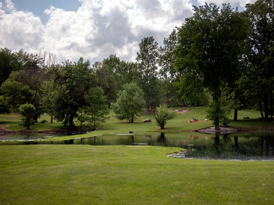 A view of Dave Sheets' backyard and property at his