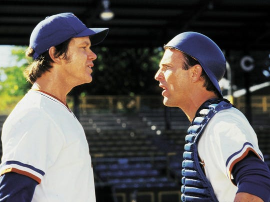 "Kevin Costner (right) and Tim Robbins portrayed iconic characters in ""Bull Durham."""