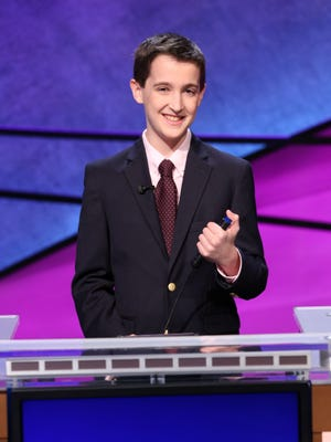 """Sam Lerner is in the running for a $75,000 prize during this year's """"Jeopardy!"""" teen tournament."""