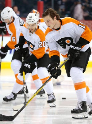 It's been a bit of a rocky road for rookies, from left, Travis Sanheim, Taylor Leier and Nolan Patrick.