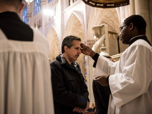New York Catholics Attend Ash Wednesday Mass