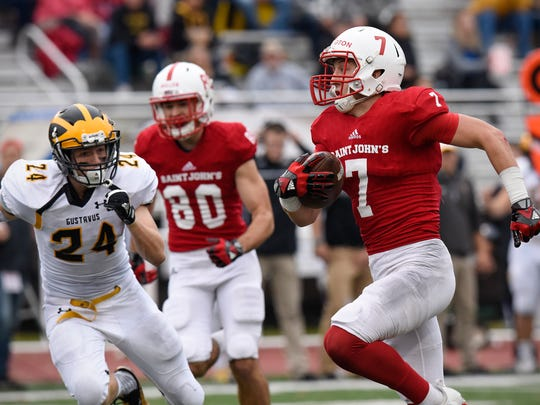 Dan Harrington of St. John's rushes with the ball during