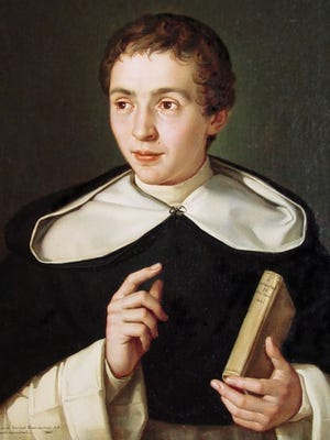 This is a painting of Father Samuel Mazzuchelli as a young man. The Dominican priest from Italy founded more than 35 parish communities and schools in the upper Midwest in the 1800s before he died of pneumonia at age 57.
