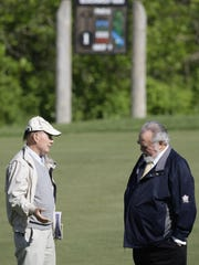 Blackwolf Run designer Pete Dye, left, and Herbert
