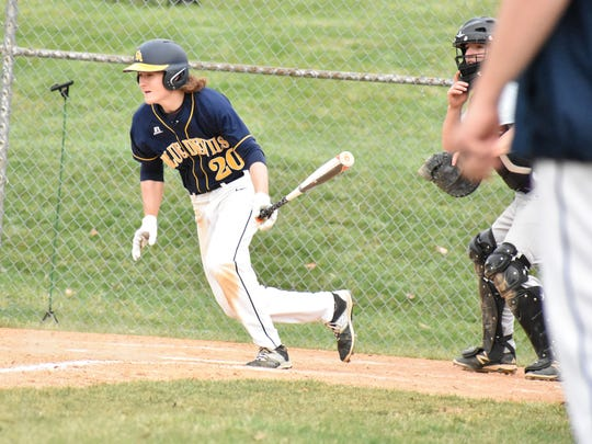 Greencastle's Cade Bender is one of four returning varsity players, and is leading G-A with six RBIs through the first four games of the season.
