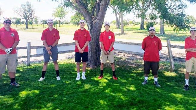 The 2020 Rocky Ford High School boys golf team. From left, Jacob Efird, Josh Johnson, Jasha Smith, Jayden Sisneros, Israel Maestas and Brock Egley.