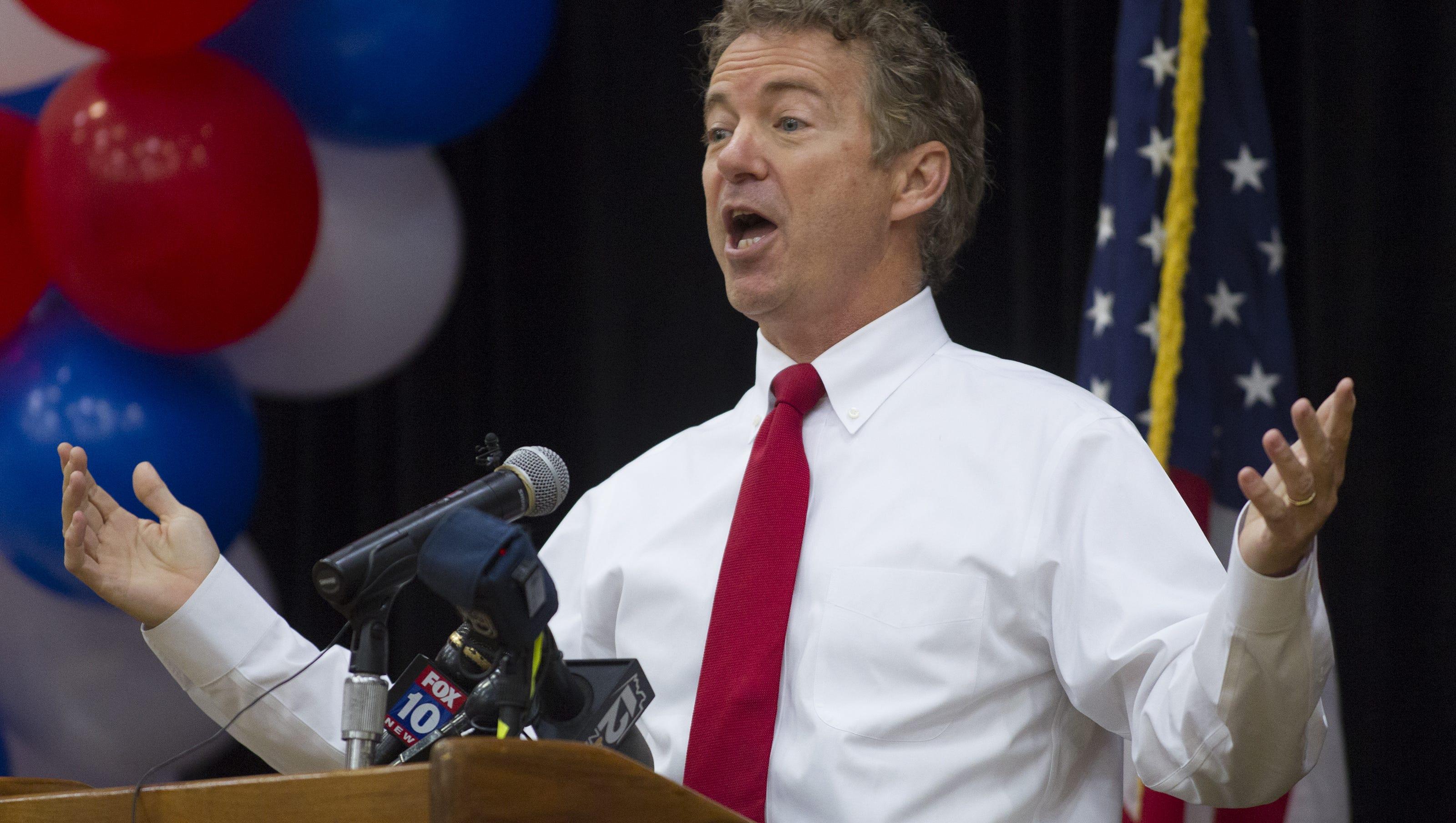 Cheers To Senator Rand Paul >> Rand Paul cheers NSA ruling, swipes at McCain in Arizona visit
