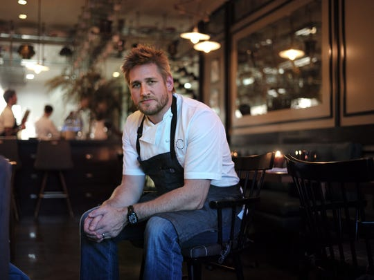 Chef Curtis Stone at Maude, a 25-seat restaurant he opened last year in Beverly Hills, Calif. Last year, the Australian chef opened the Beverly Hills restaurant (named after his grandmother) that selects one seasonal ingredient per month to infuse into a nine-course meal.