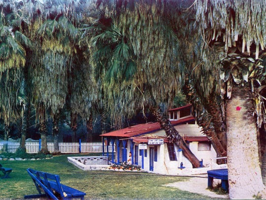 Bathhouse at the hot mineral springs located at Spring