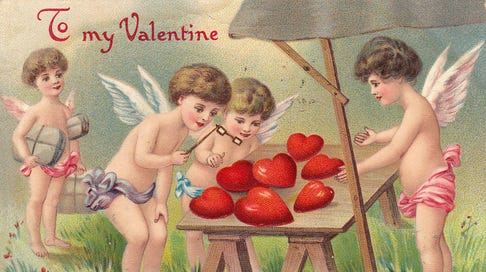 A Valentine's Day postcard from 1910.