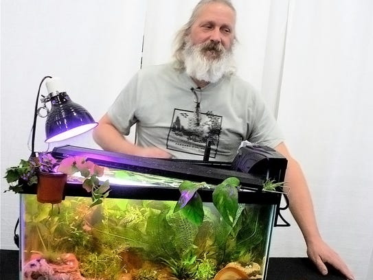 At the Garden Expo aquascaping competition, participants