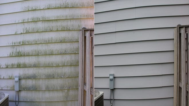 It is possible to pressure wash siding without doing damage.