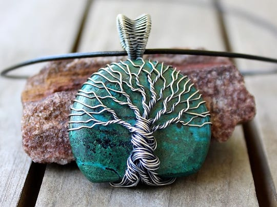 Tree-of-life pendant by Heidi Kemp of Violet Inspirations