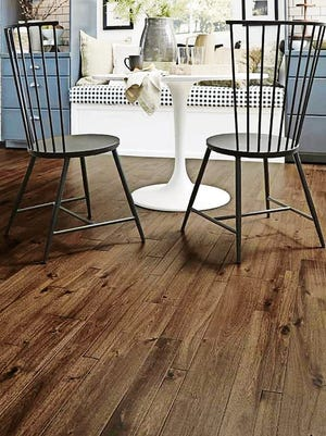 Bengal Bay Coffee hardwood.