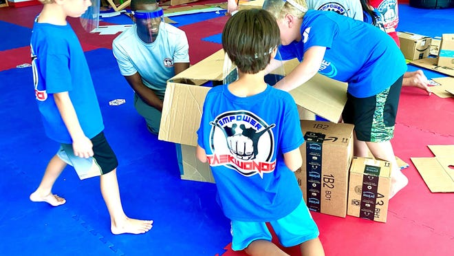With help from Craven CC's Small Business Center, Master Hama Alzouma opened his dream business, Empower Taekwondo, last August. He held summer camps at his facility before having to close due to the pandemic.