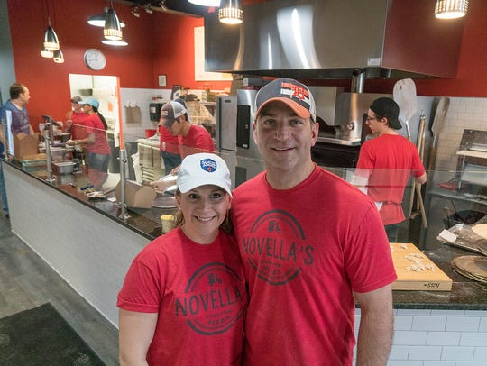 Karissa and Brandon Davis will head to Las Vegas next year for the International Pizza Challenge. Brandon's Fig and Pig pizza came in first at a qualifying round, the  Michigan Restaurant Association's Pizza Challenge last month in Novi.
