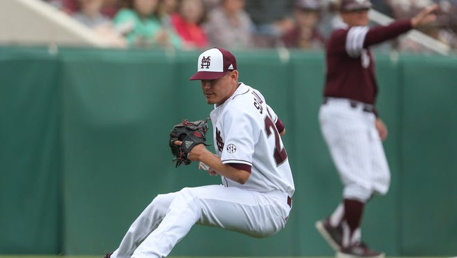 Austin Sexton left Mississippi State's 10-6 loss to Texas A&M on Saturday with a pulled hamstring.