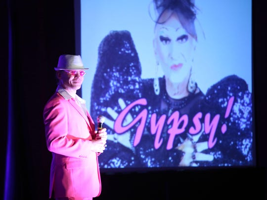 "Alfie Pettit helps kick off the comedy roast of James ""Gypsy"" Haake at the Hard Rock Hotel in Palm Springs on Saturday."