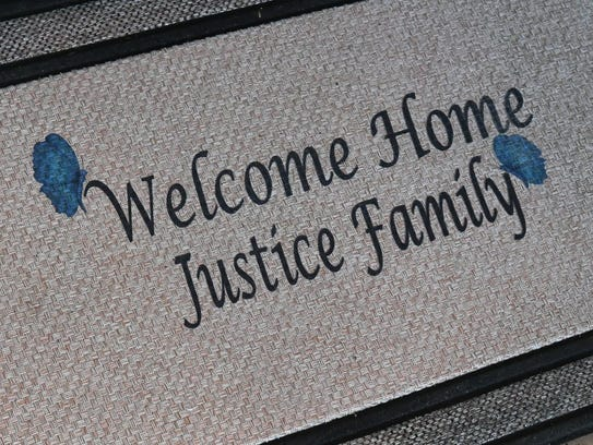 The Justice family takes a look at their new home in