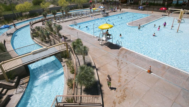 The McDowell Mountain Ranch Aquatic & Fitness Center in Scottsdale on Saturday, May 3, 2014.