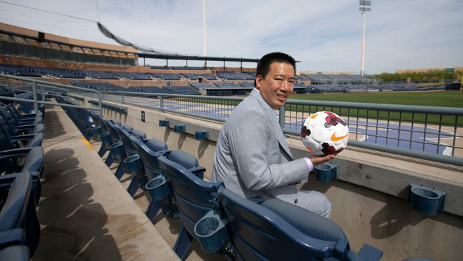 Kyle Eng, the new owner of the Arizona United Soccer Club, is using his Arrowhead Advertising  staff to kick-start the team's marketing efforts.