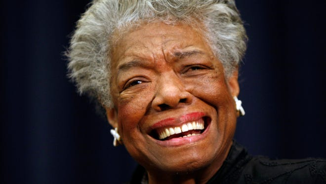 Poet Maya Angelou is shown in Washington on Nov. 21, 2008.