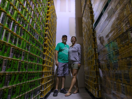 Fort Myers Brewing Co. owners Rob and Jennifer Whyte,