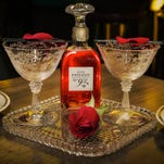 For Valentine's weekend, New York City's Hotel Chantelle will offer the Love Potion No. 92. with rose-infused Old Tom Gin, Cocchi Americano, Aperol and grapefruit.