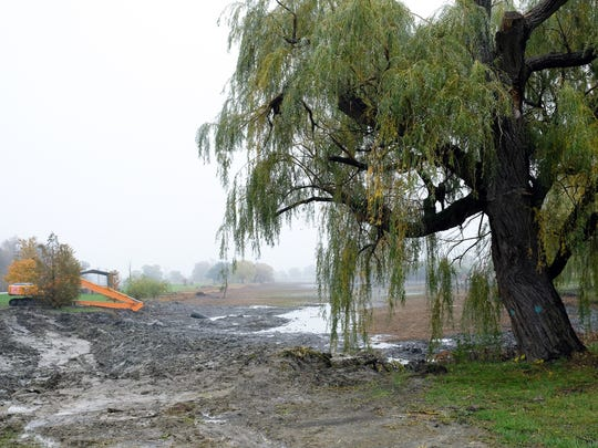 Lake Okonoka on the southeastern end of Belle Isle has been drained as part of a $5 million project that will include an open channel leading to the Detroit River, officials say.