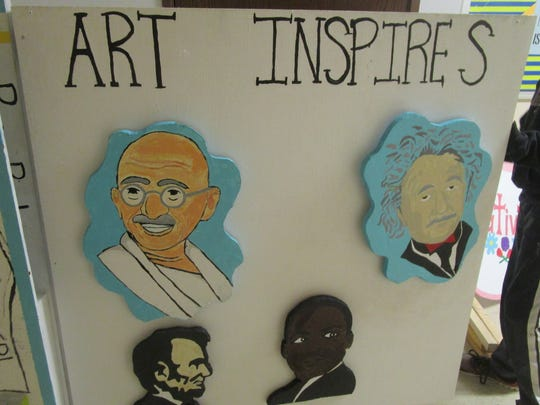 Through the solution to their problem, the STEM Institute students show how OMER, the OM mascot, and art has inspired the world's great leaders and thinkers, like Mahatma Gandhi, Albert Einstein, Abraham Lincoln and Martin Luther King Jr.