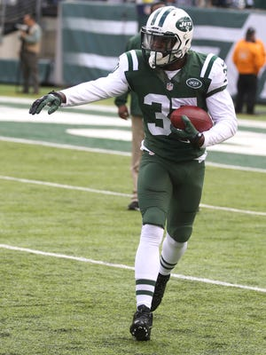 Jets safety Jaiquawn Jarrett is happy that he went from being out of football to a starring role recently.