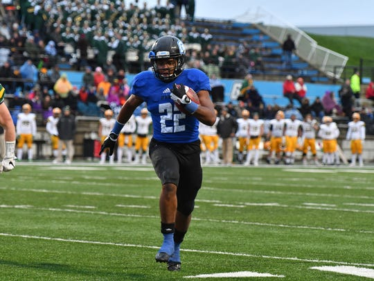 Grand Valley State University redshirt freshman running