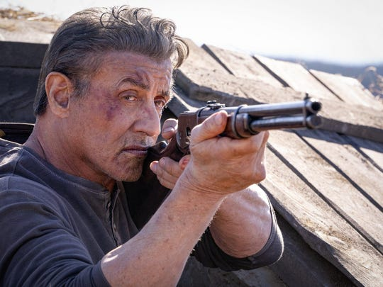 """John Rambo (Sylvester Stallone) battles a sex-trafficking Mexican drug cartel in """"Rambo: Last Blood."""""""