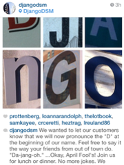 Django tried tricking their Instagram followers on