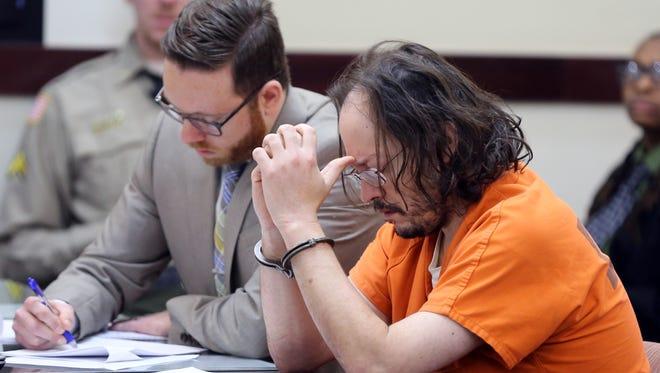 William Thomas-Trudo sits in court Thursday, Feb. 18, 2016.