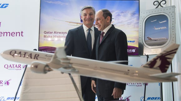 Akbar Al Baker (right), CEO of Qatar Airways, and Ray